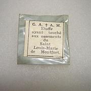 St Louis De Montfort Paper Reliquary