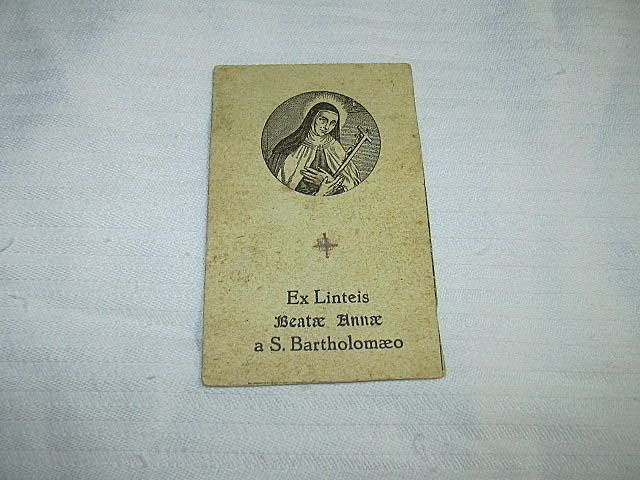 Reliquary Card Blessed Anne of St Bartholomew St Terese Of Avila Interest