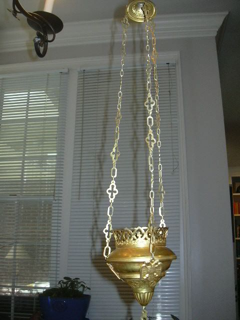 Gold Metal Hanging Censor Incense Candle Light Holder