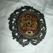 Old Filigree Reliquary Five Saints  Religious Sacramental