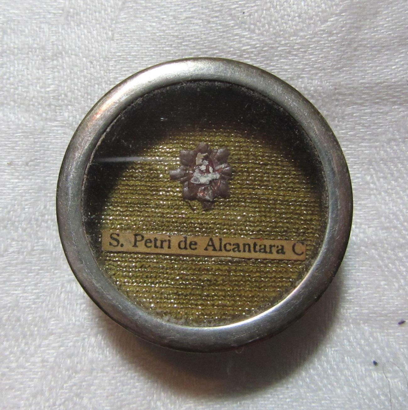 Reliquary St. Peter Of Alcantara Catholic Sacramental
