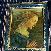Virgin Mary Madonna Italian Print F. Lippi Florentine Religious Art