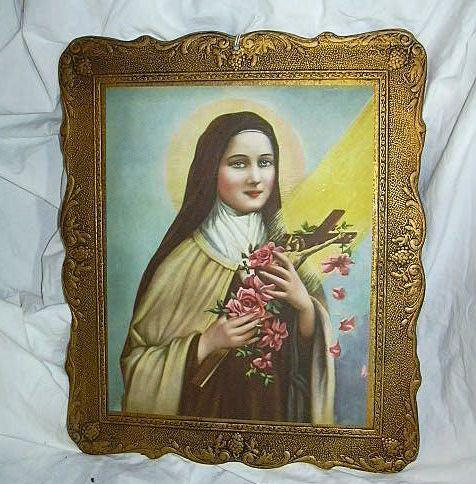 Old St Therese Lisieux Print Catholic Christianity Art of Beloved Saint