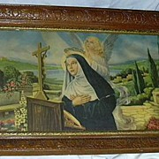 St Rita Of Cascia Old Catholic Print Fine Religious Art Stigmata