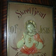 Sacred Heart Of Jesus Antique German Paper Punch Art