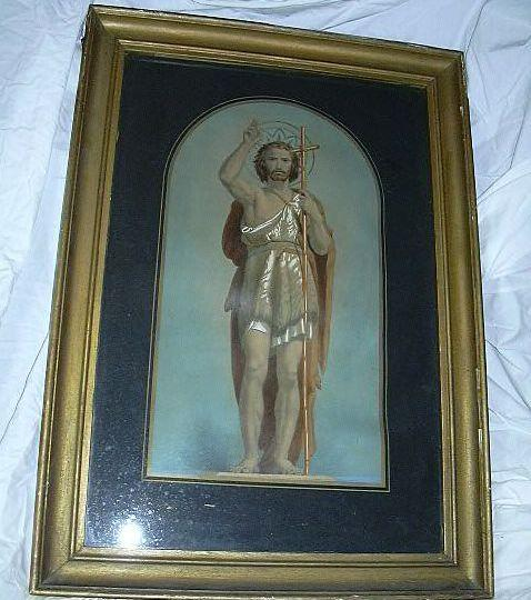 Rare Old St John The Baptist As Adult Large Framed Print