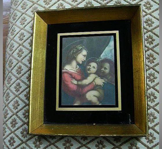 Older Framed Print Madonna And Child