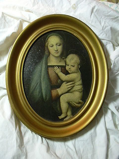 Old Madonna & Child Framed Print Madonna Gran Duca
