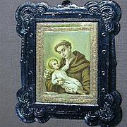 Religious Art St Anthony & Infant Jesus Embossed Print