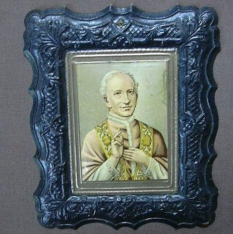 Religious Art Catholic Pope Embossed Print