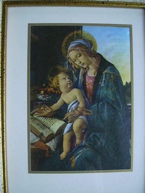 Botticelli Madonna Print Framed Religious Art