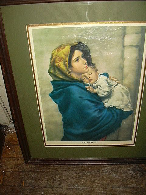 Ferruzzi Madonna Print Large Framed Religious Art Virgin Mary