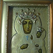 Our Lady Of Czestochowa Virgin Mary Infant Jesus Icon In Shadowbox