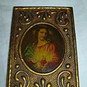 Florentine Jesus Sacred Heart Miniature Art