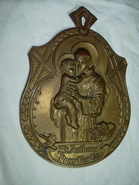 Old St Anthony House Blessing Plaque Metal Arts Co