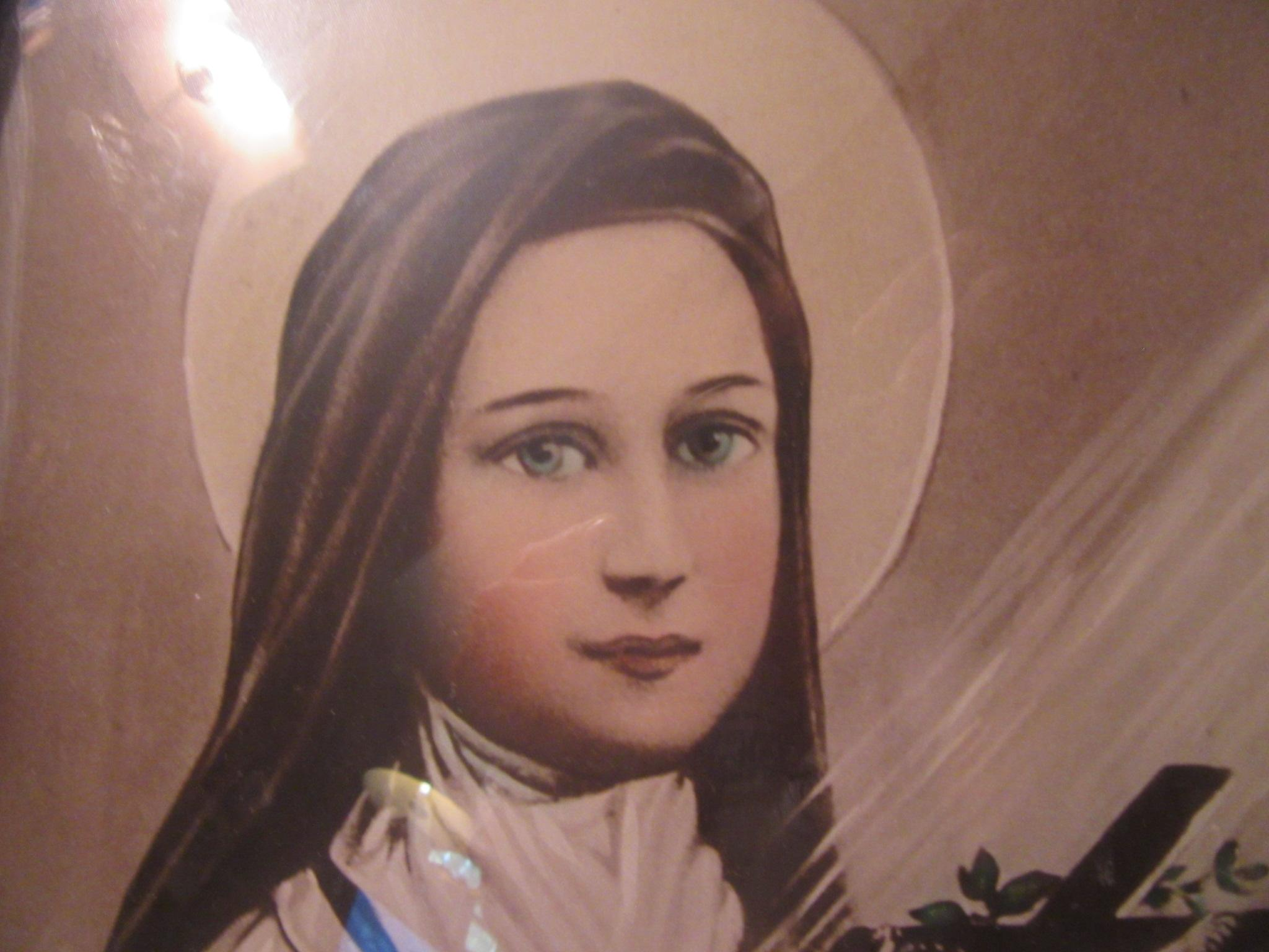 St Therese Theresa of the Little Flower Old Print Fabulous Original from anti