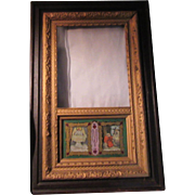 Stations of the Cross Rotating Art in Shadowbox Frame Gold Gilt