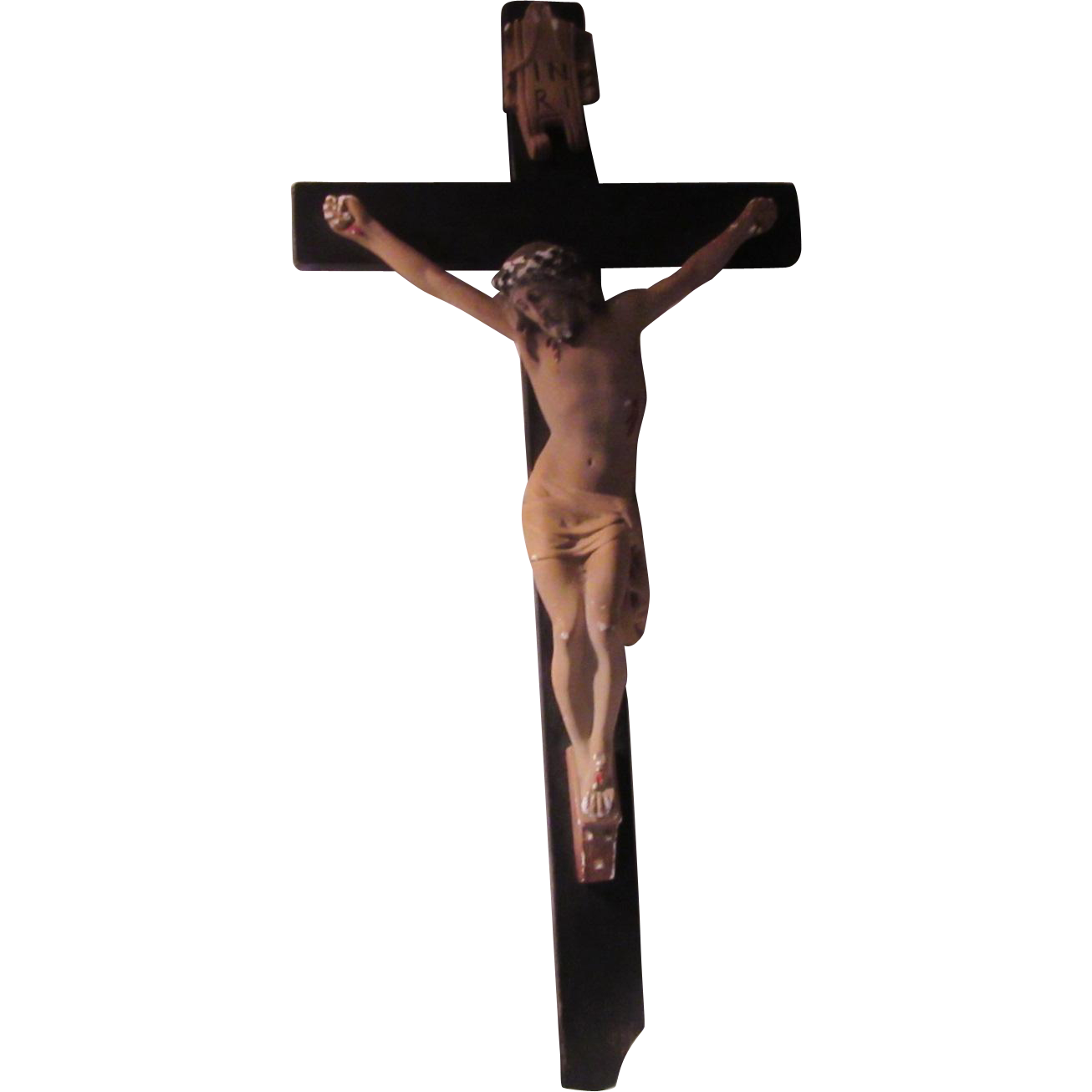 Large Wall Crucifix Cross Jesus Corpus Original Label