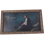 Old Jesus On The Mountain Framed Print