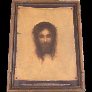 Old Print Jesus Holy Shroud Print House Of Art New York