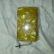 Old Butterscotch Marbelized Lucite Prayer Book El Angel De La Infancia