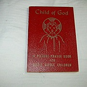 Child Of God Picture Prayer Book 1958