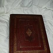 Antique Family Altar Bible 1822 Edinburgh Leather