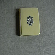 1913 Ivorine Book Common Prayer Silver Hallmarked IHS