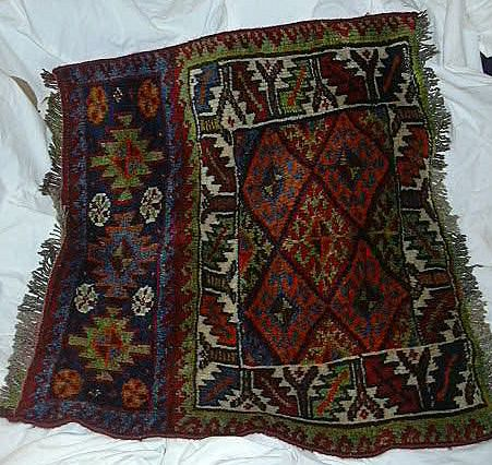 Old  Persian Oriental Rug Half Bag Quashkai Kashquai Wool Weaving
