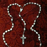 MOP Mother Of Pearl Rosary & Crucifix Fine Catholic Christianity Prayer
