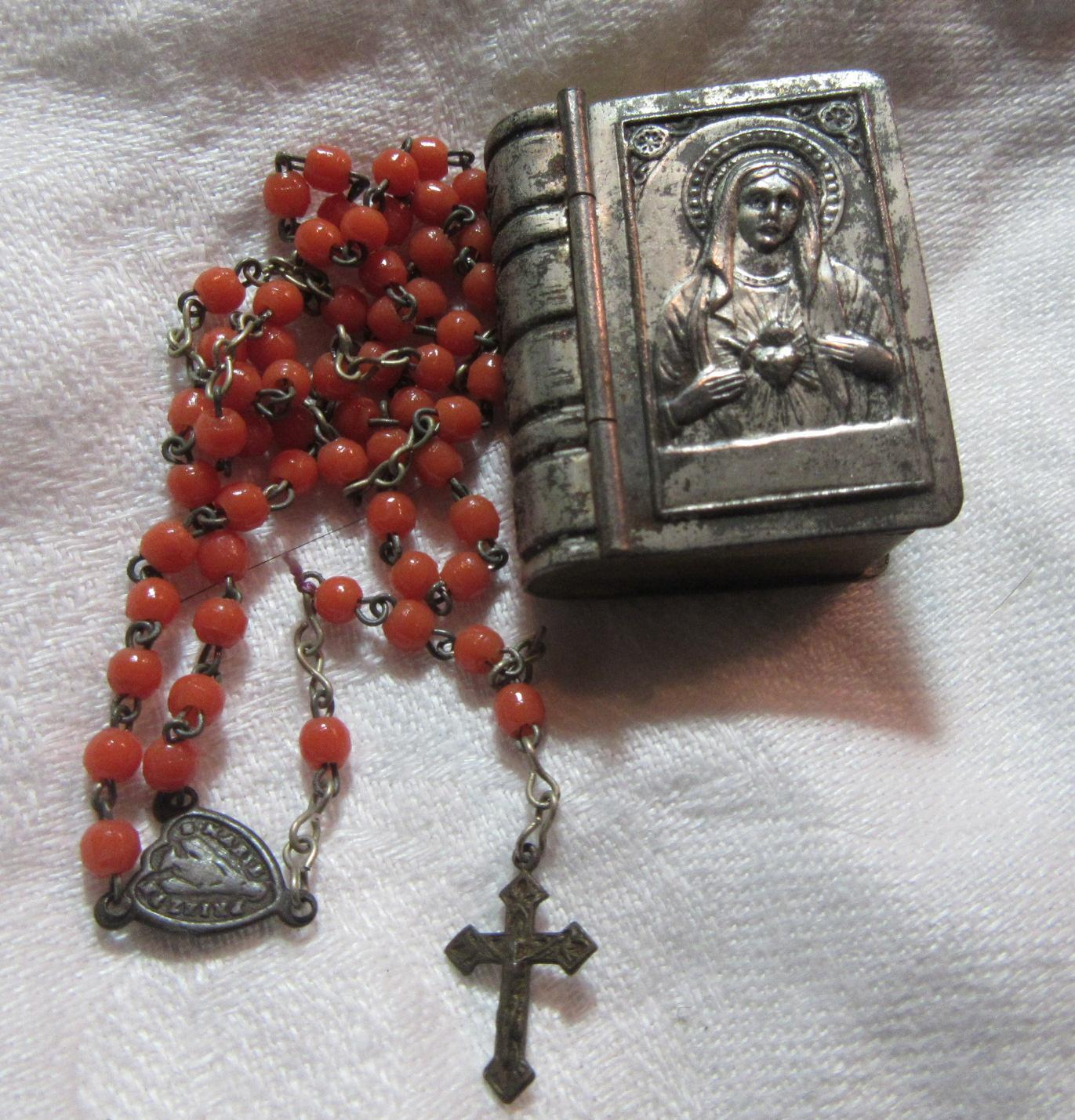Miniature Rosary In Original Case From Antiques Jewelry