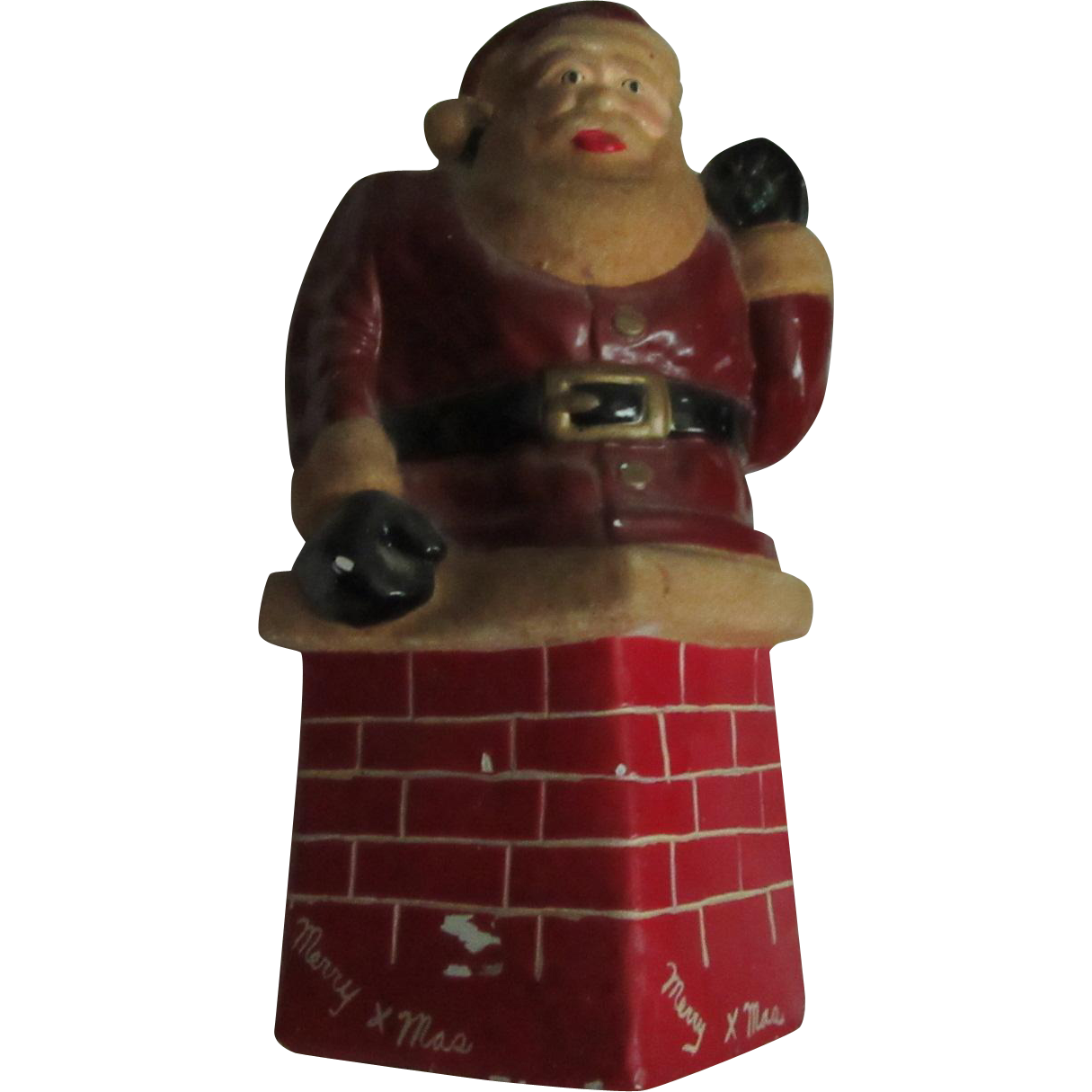 Old Santa Claus Saint Nicholas Bank Statue Christmas Figure
