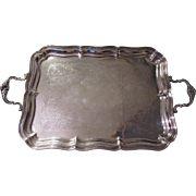 Alvin Large Silverplate Tray Heavy Old Silver