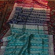 Vintage Indian Sari Fine Textile Fabric Of India Decorator & Ethnic Middle Eastern Clothing