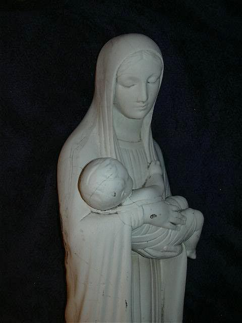 Large Statue Virgin Mary Madonna & Infant Jesus Fine Catholic Christian Religious Figurine