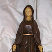 Virgin Mary Our Lady Figurine Old Japan Statue Fine Catholic Christianity Sacramental