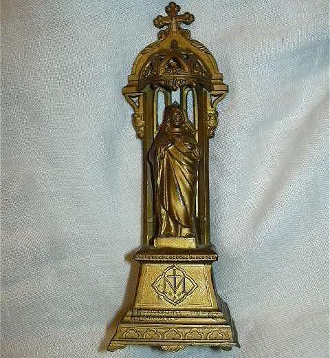 Jesus Sacred Heart Ornate Metal Statue Fine Catholic Christianity Religious Figurine