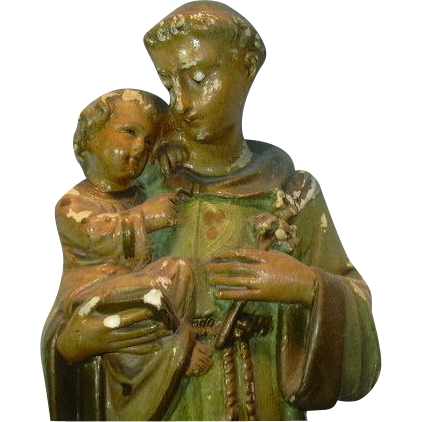 St Anthony Infant Jesus Old Statue