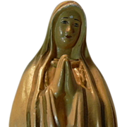 Virgin Mary Our Lady Fatima Chalkware Statue Figurine