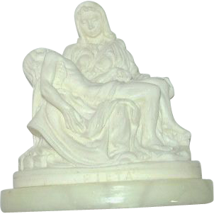 Small Pieta Statue Figurine Virgin Mary & Jesus