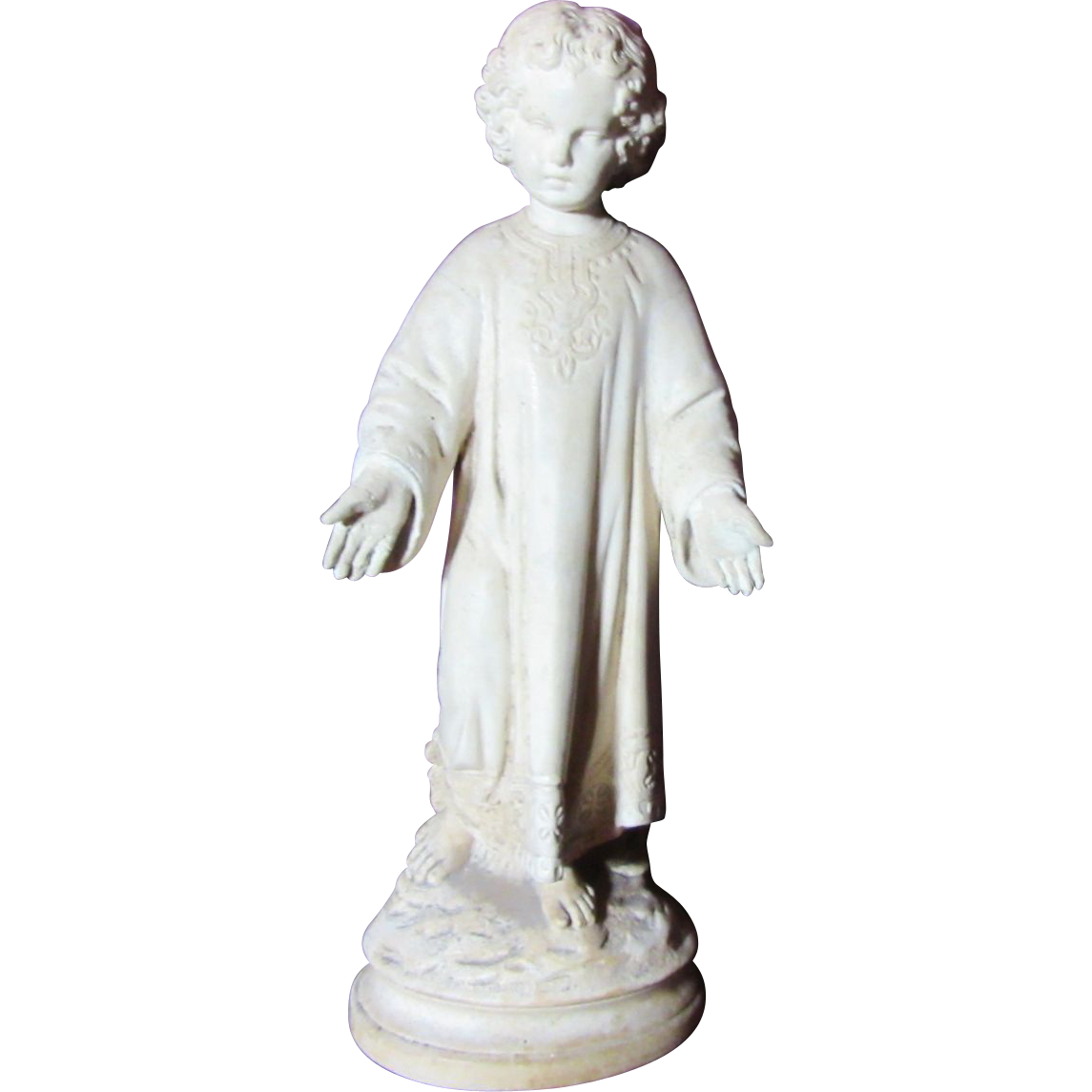 French Pipe Clay Child Jesus Statue
