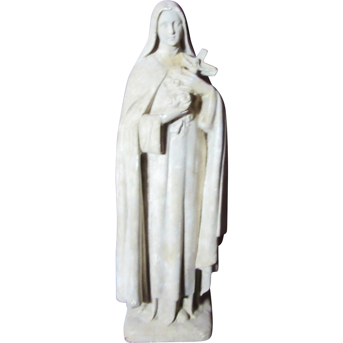 St Teresa Lisieux Old French Statue Signed