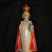 Infant of Prague Fine Statue of Jesus Signed O'Connell Catholic Figurine