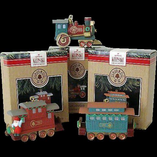 Hallmark Ornament Claus Co. Railroad