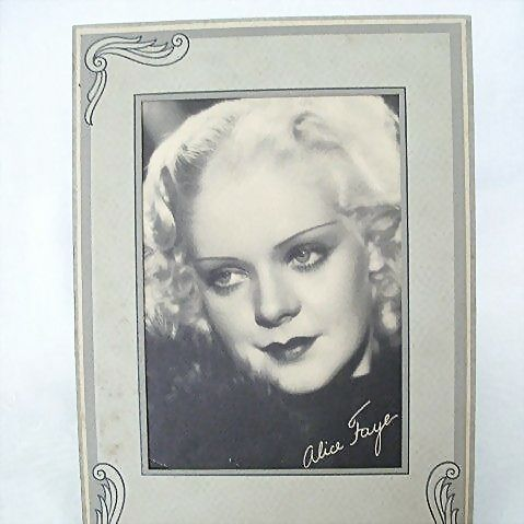 Studio Portrait With Cardboard Frame Alice Faye 1930s