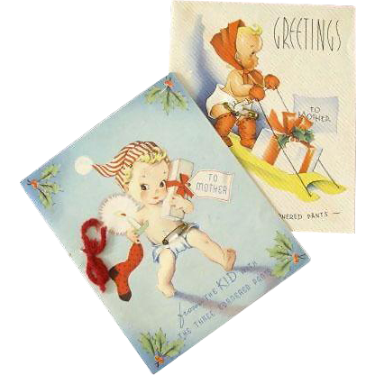 Christmas Card Greetings To Mother 1942