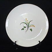 Knowles Dinner Plate Forsythia Pattern 1950s