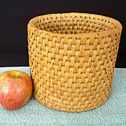 Tightly Woven Palm Frond Basket for Flower Pots
