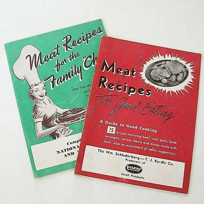 Dated 1950's Meat Recipe Booklets