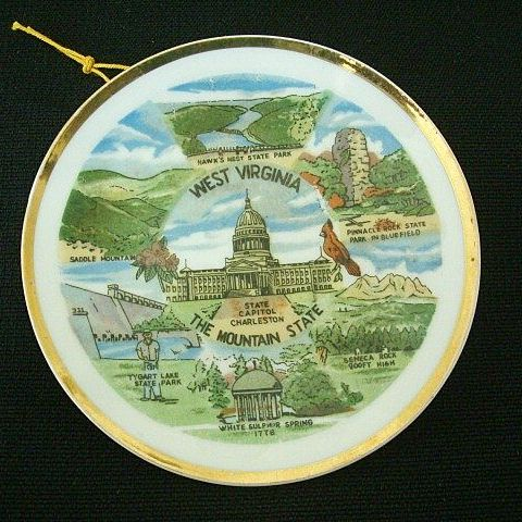 West Virginia 1950's Souvenir Small Plate